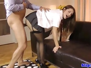 Alluring nubile dickblowing fortunate experienced