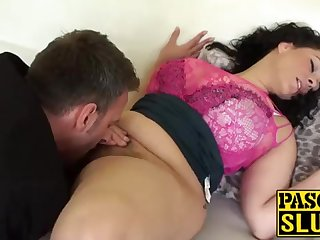 Crazy Anastasia Lux obtaining her cootchie tongued and frigged