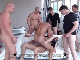 Youthfull Russian Wanton Gets Group-Fucked Wide of Eight Wild Pervs