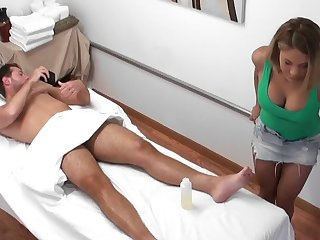 Masseuse is an orgasm artist that pleasures his cock
