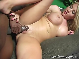 Barb Cummings loves property pounded by big sooty dicks